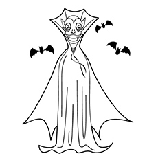 Vampire Owl Coloring Pages
