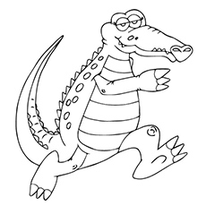 Alligator Coloring Pages Your Toddler Stand