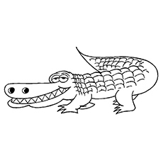 alligator coloring pages sleep