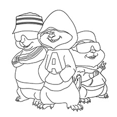 Top 25 Free Printable Alvin And The Chipmunks Coloring Pages Online