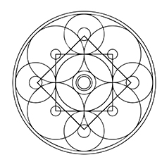 Amind Cokr Circle Mandala 17