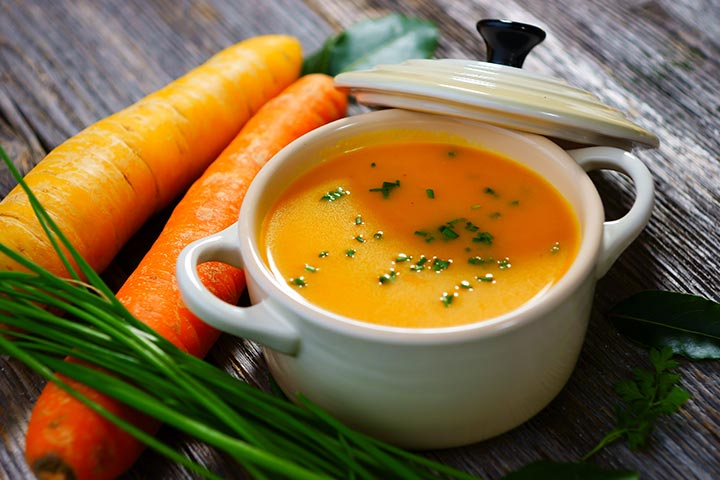 Apple, carrot, and onion soup