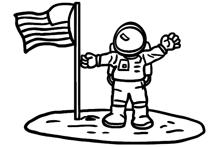 astronaut suit coloring sh