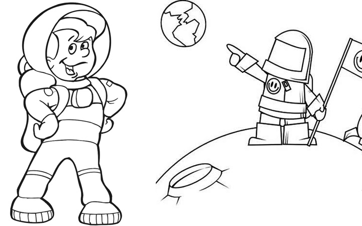 Astronaut Activity Pages For Preschool