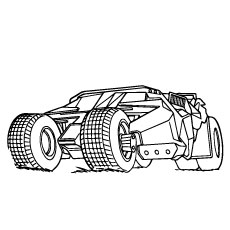 Batmobile Vehicle Of Batman In Picture Coloring Pages Free