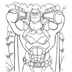 Coloring Sheet pf a Batman is a Fictional Superhero