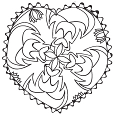 Beautiful Heart Shaped Pattern coloring pages