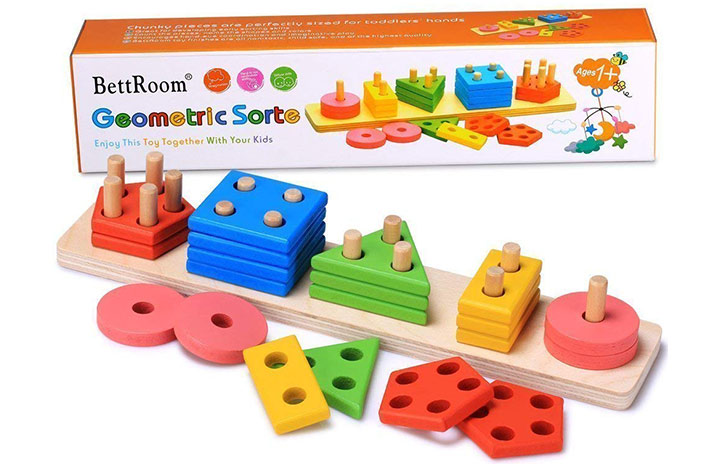 BettRoom Geometric Sorte Wooden Toy