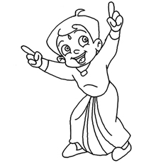 Chota Bheem Laughing Away Coloring Pages