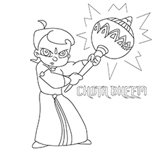 Bheem-The-Angry for coloring pics