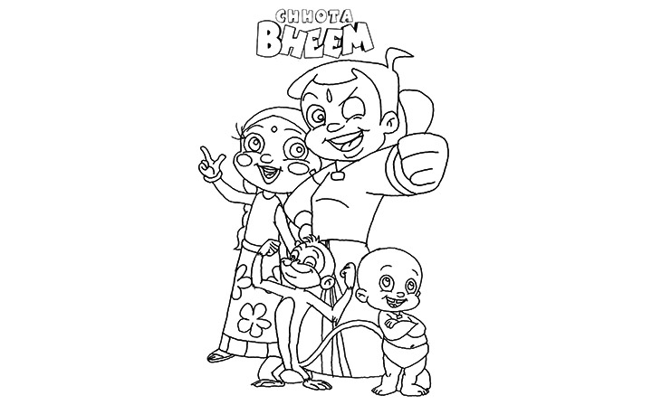chota bheem team coloring pages - photo#23