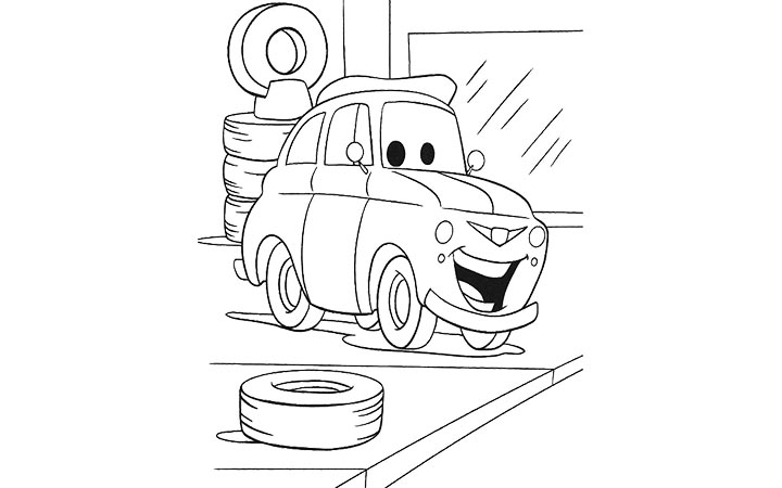 car garage coloring pages - photo#12