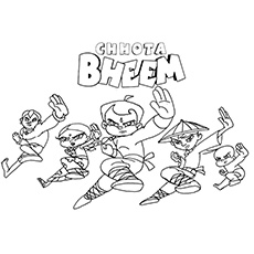 chhota bheem coloring pages - photo#35