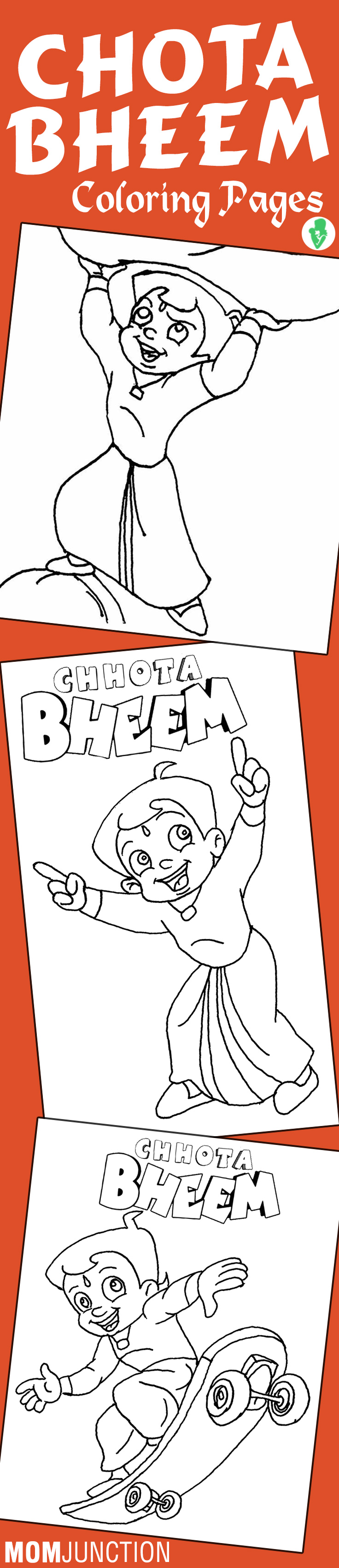 Online Coloring Chota Bheem : Top free printable chota bheem coloring pages