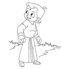 Coloring Pages of Chota Bheem to Print