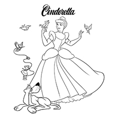 Cinderella With Her Animal Friends 16