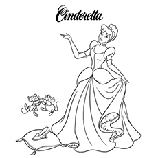 Cinderella- With Her Mouse Friends 16