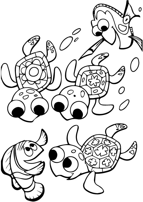 Cute-Finding-Nemo-Coloring-Group