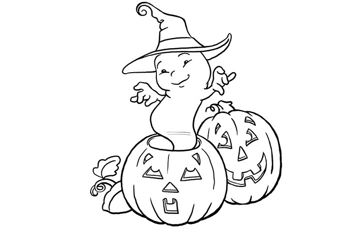 baby pumpkin coloring pages - photo#24