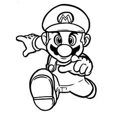face to face with mario coloring pages - Color Pages Online
