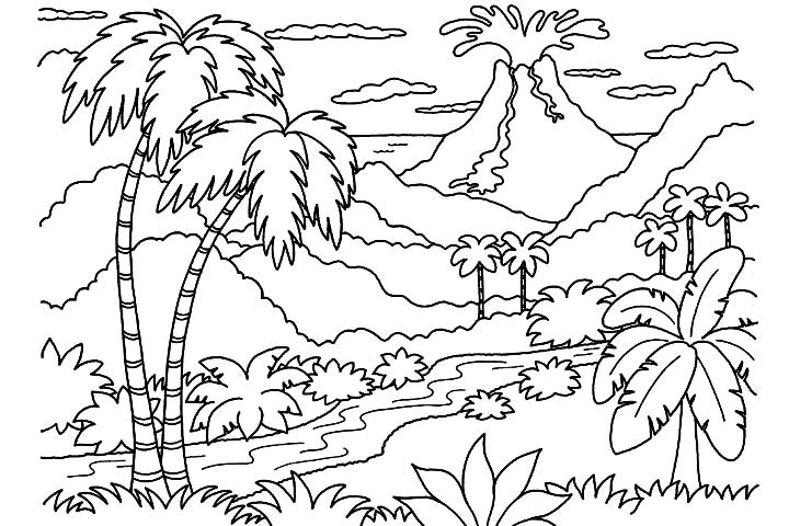 v is For Volcano Coloring Page Coloring Pages of Volcanoes