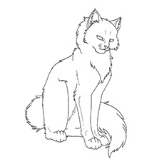 cat warriors coloring pages-#22