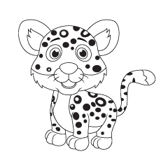 Top 25 Free Printable Leopard Coloring Pages Online