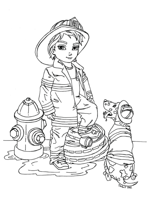 Girl-Firefighter-Coloring-Pages-free-for-kids