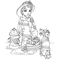 girl firefighter coloring pages free for kids
