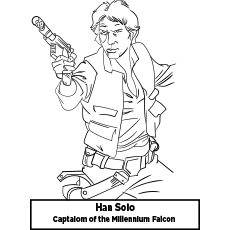 Coloring Sheet of Han Solo StarwarHan Solo Starwar
