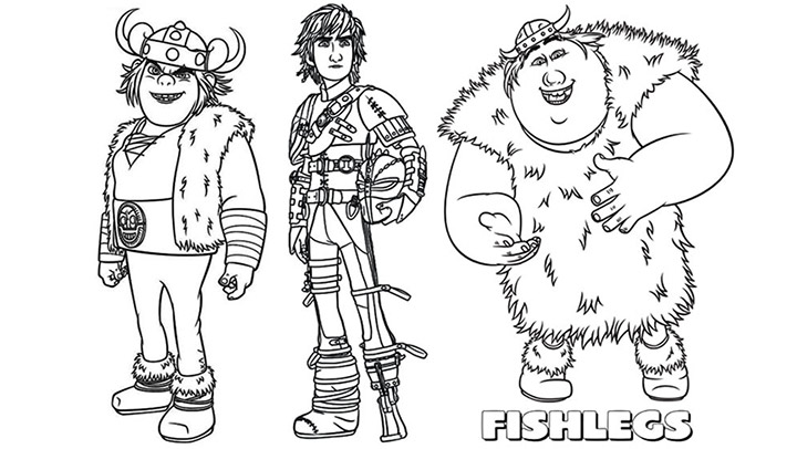 coloring pages how to train your dragon 2