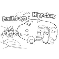 jungle junctions hippobus 16 - Jungle Junction Coloring Pages