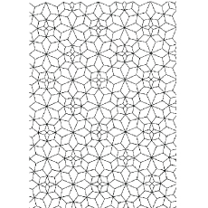 Pattern Of Kaleidoscope Effect Mosaic Coloring Pages