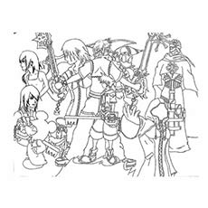 Top 25 Free Printable Kingdom Hearts Coloring Pages Online
