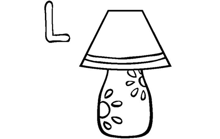Oil lamp coloring pages