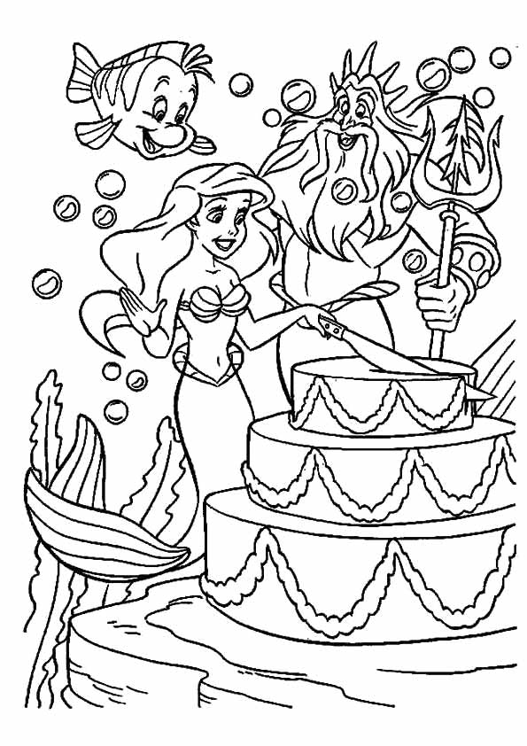 Little-Mermaid-and-King-Neptune-in-Birthday-Party