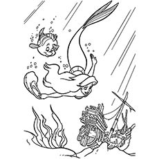 Coloring Pages Little Mermaid with Nemo Printables