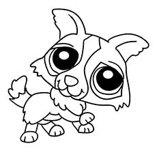 littlest pet minka coloring pages to print - Littlest Pet Shop Coloring Page
