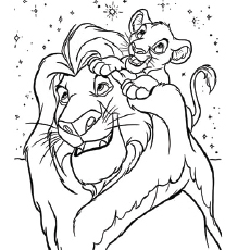 Loving Bond Coloring Pages The Lion King And Simba Sheet Of Loin Character Are Celebrating Halloween