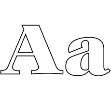 lowercase and uppercase letter a coloring sheet - A Coloring Pages