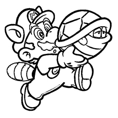 Mario And Koopa Troopa Coloring Pages