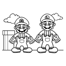 luigi and mario coloring pages Top 20 Free Printable Super Mario Coloring Pages Online luigi and mario coloring pages