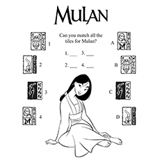 Match The Titles For Mulan 16