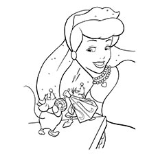 Mice Help Cinderella Dress Beautiful To Color