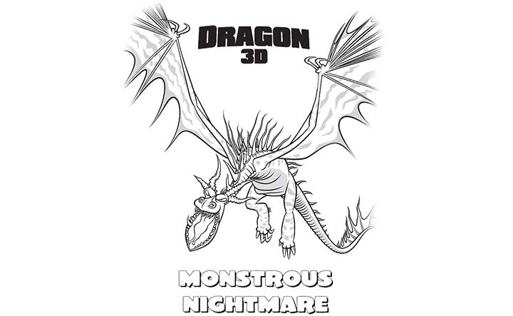 Monstrous nightmare colouring pages