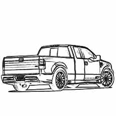 muscle ford truck modeal coloring