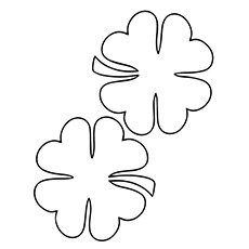 pair four leaf clovers for luck - Four Leaf Clover Printable
