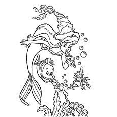 Party Under Water Little Mermaid Coloring Pages