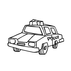 Coloring Page of Police Car