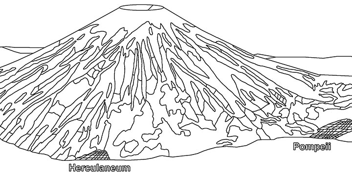 v is For Volcano Coloring Page Volcano Coloring Pages